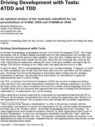 Driving Development with Tests: ATDD and TDD