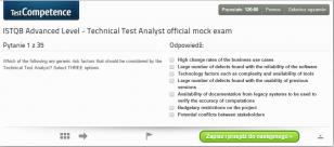 Oficjalne pytania próbne dla egzaminu ISTQB Advanced Level Technical Test Analyst