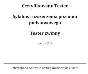 Sylabus ISTQB Tester Zwinny