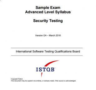 Przykładowy egzamin ISTQB Advanced Level Security Tester