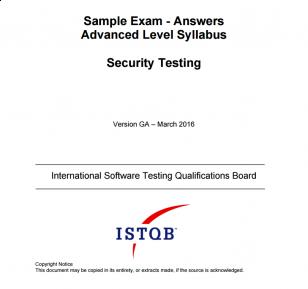 Przykładowy egzamin ISTQB Advanced Level Security Tester - ODPOWIEDZI