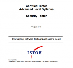 Sylabus ISTQB Advanced Level Security Tester [EN]
