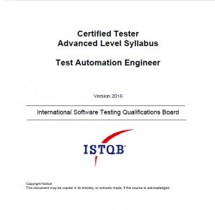 Sylabus ISTQB Advanced Level Test Automation Engineer [EN]