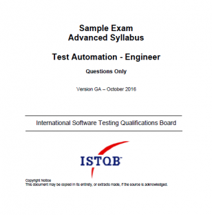 Przykładowy egzamin ISTQB Advanced Level Test Automation Engineer