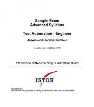 Przykładowy egzamin ISTQB Advanced Level Test Automation Engineer - ODPOWIEDZI