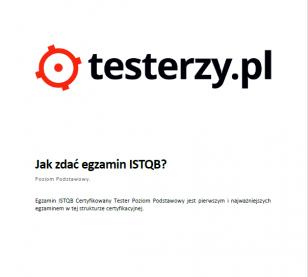 Jak zdać egzamin ISTQB® Poziom Podstawowy