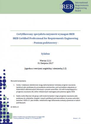 Sylabus IREB Poziom Podstawowy (PL)