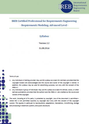 Sylabus IREB Advanced Level - Requirements Modeling (EN)
