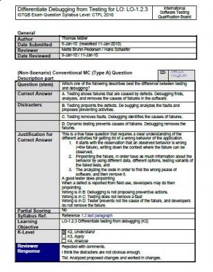 Pytania przykładowe do egzaminu ISTQB Foundation Level. Część 2.
