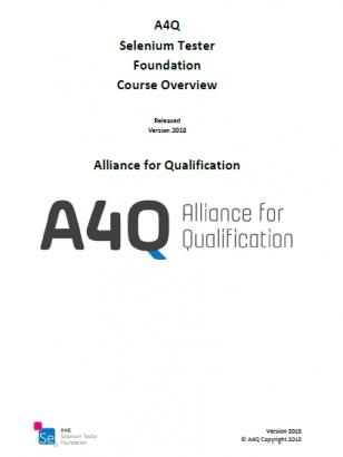 "Opis szkolenia ""A4Q Selenium Tester - Foundation Level"" (EN)"