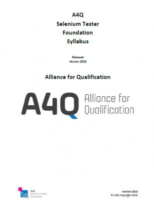"Sylabus ""A4Q Selenium Tester - Foundation Level"" (EN)"