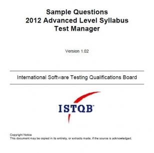 Przykładowy egzamin ISTQB Advanced Level - Test Manager