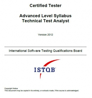 Sylabus ISTQB Advanced Level Technical Test Analyst [EN]