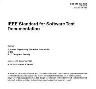 Wyciąg z normy IEEE 829 - 1998