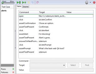 Selenium IDE Alerts Windows
