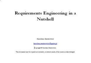 Requirements Engineering in a Nutshell